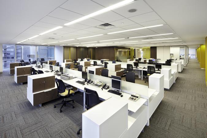 diseño puesto de trabajo oficina torre empresarial arturo calle