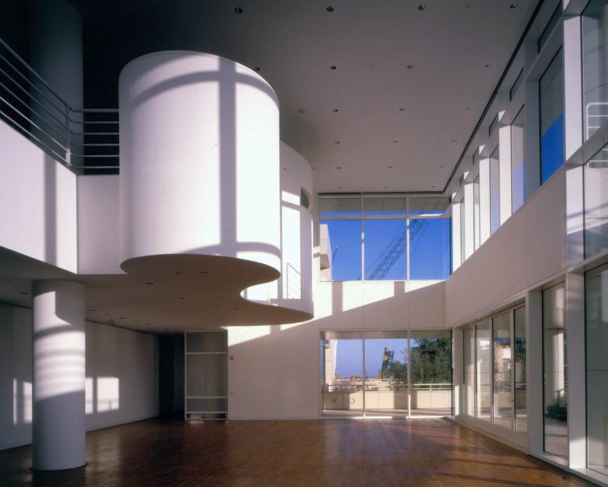 Interior del Centro Getty de Los Angeles.