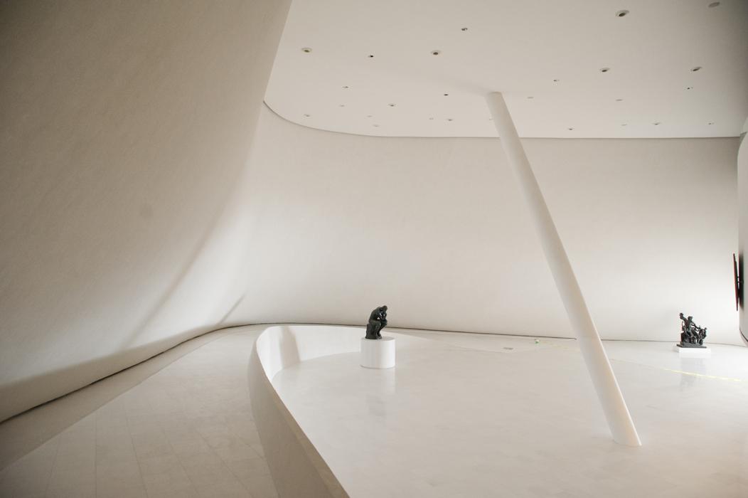 Interior del museo Soumaya en Cuidad de Mexico.