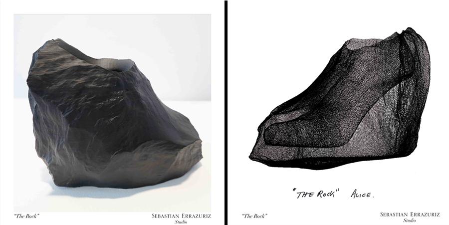 The Rock, diseño del proyecto 12 zapatos para 12 amantes, para Melissa.
