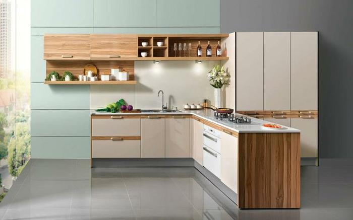 Propuesta de la firma Oppein para proyectos de cocina en 100 Showrooms, 2014.