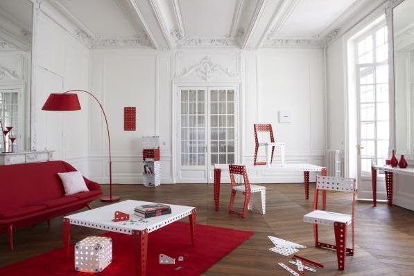 Muebles modulares de construcción de Meccano home.