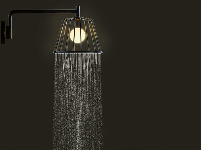 Shower Lamp por Nendo, en ARCHIDEX, 2014.