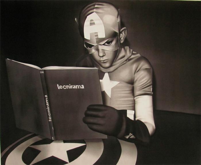 Obra del artista Carlos Mojica de la serie Tecnirama, 2014.