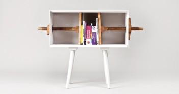 Biblioteca por la firma de diseño MEJD, en la Dutch design week 2014.