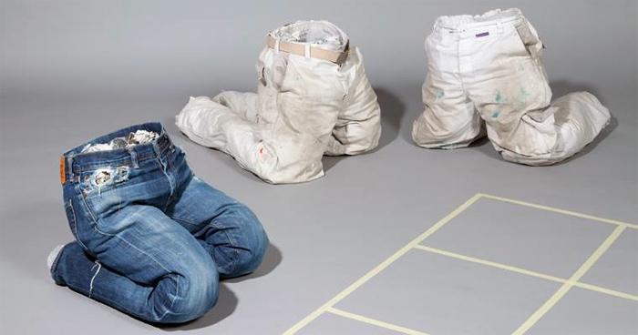 Imagen de la conferencia de la firma holandesa MU: five years of we make carpets, en la Dutch design week 2014.
