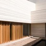 Fachadas en concreto de la casa CRR de TASH en Toledo, España.