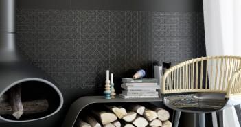 GRESPANIA La firma presentó la serie Nexo, una colección de porcelanatos que se caracteriza por sus texturas, diferentes formatos y colores blanco y negro, una combinación en furor que aporta a los espacios un toque urbano, nítido y contemporáneo. Porcelanato negro pulido y sólido, de la colección Nexo, de la firma española Grespania.