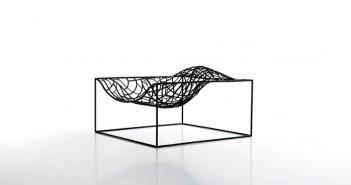Silla Ad Hoc, diseñada por Jean-Mire Massaud de la firma Viccarbe, en Hábitat Valencia 2015.