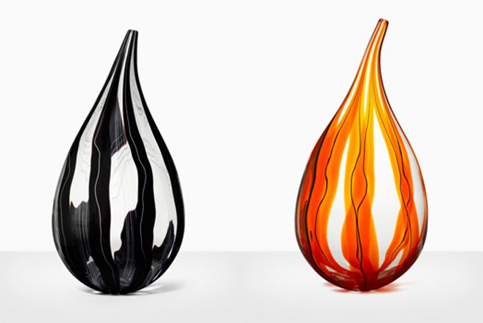 Bulb, piezas en cerámica por Ann Wahl Strom, en la semana de diseño de Estocolmo, 2013.