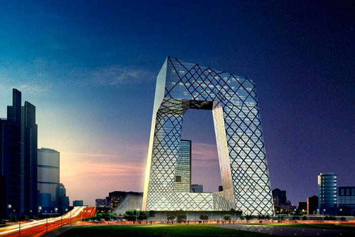 Central Chinese Television, por el estudio MVRDV, fundado por el arquitecto holandés Winy Maas, invitado a la XIX Bienal de Arquitectura y Urbanismo de Chile, 2015.