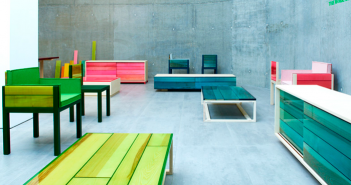 Nueva serie Resin de mobiliario por Jo Nagasaka para Established and sons, finalista en el Design of the year 2015.