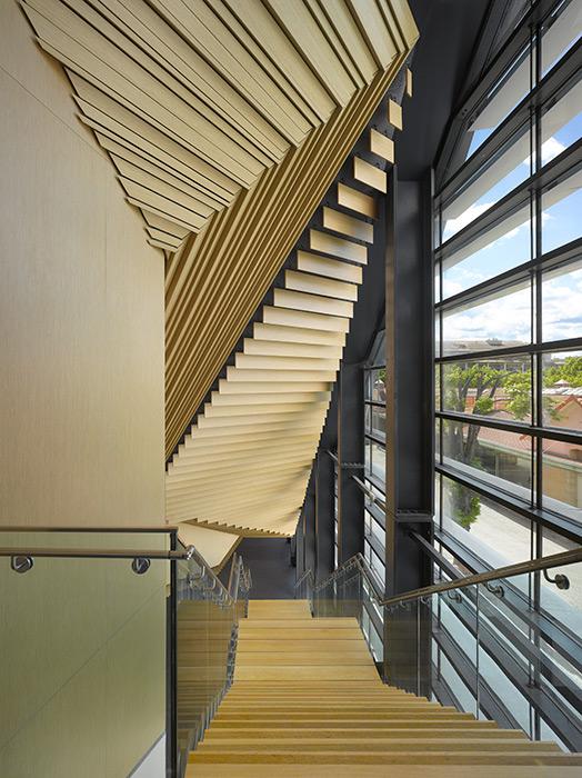 Detalle del interior del Conservatorio de Música en Aix-en-Provence, Francia.