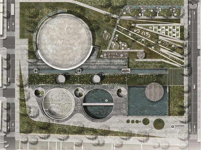 Orfelinato, proyecto de parque público en reserva de agua, ganador del oro en los Holcim Awards 2015. Medellín, Colombia.