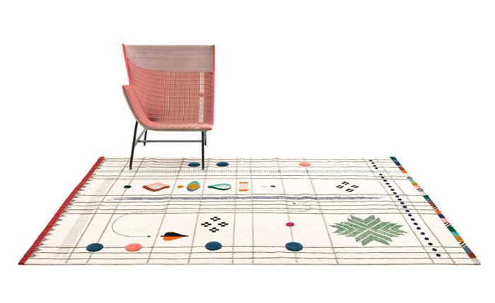 Alfombra Rabari por Doshi Levin para la marca Nanimarquina, en el Salón del Mobile 2014.