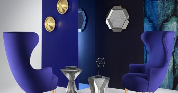 Sillas Wingback de Tom Dixon.