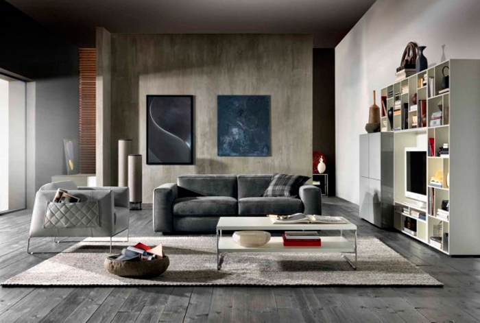 Sofá Brio por la marca italiana Natuzzi, en el Grand Designs London 2015.