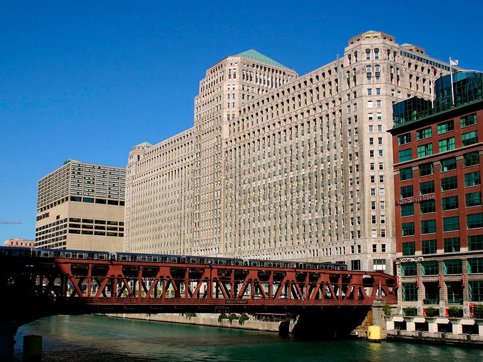 El Merchandise Mart en Chicago donde se realiza la feria anualmente.