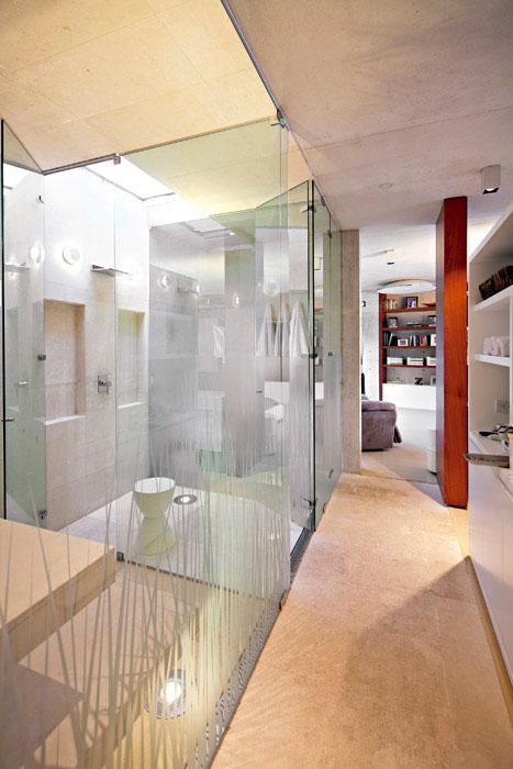 Baño Turco Arquitectura: turco, la ducha y el sanitario, dispuestos en módulos separados