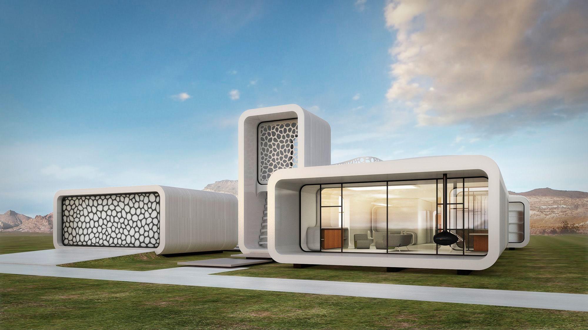 el primer edificio construido en d har parte del museo del futuro de dubai