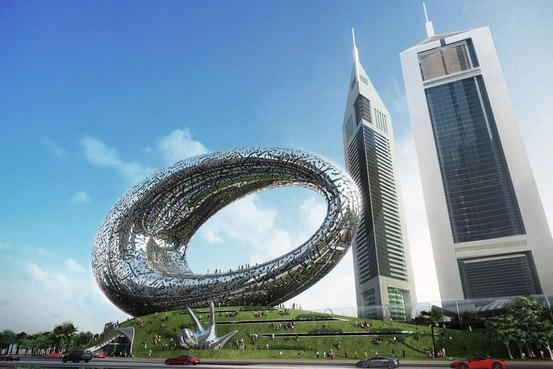 El Museo del Futuro de Dubai está ubicado en el centro de la ciudad.
