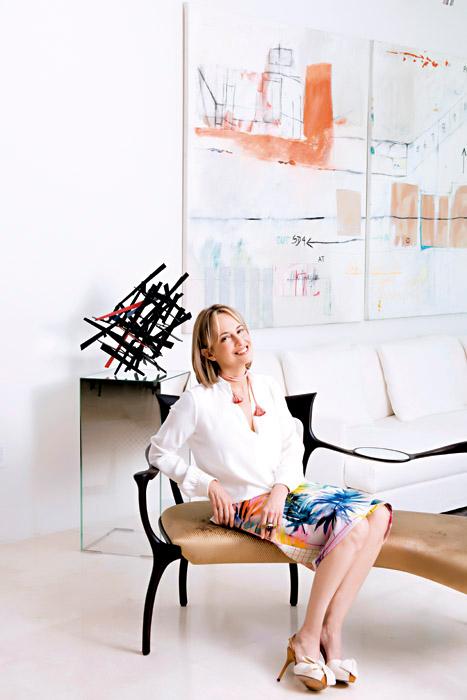 La diseñadora Silvia Tcherassi en su apartamento en Miami.