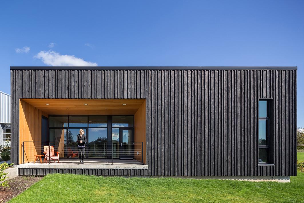 La estructura es en madera. Foto: Josh Partee