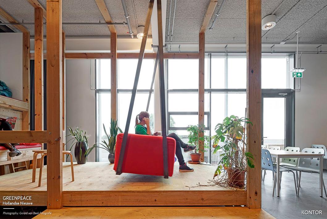 Las oficinas de Greenpeace diseñadas por Hollandse Nieuwe. Foto: Gerard van Beek Fotografie