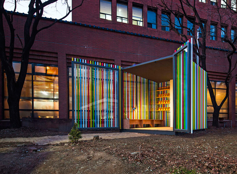 El Pabellón Tubería llena de colores el parque. Foto: June Young Lim