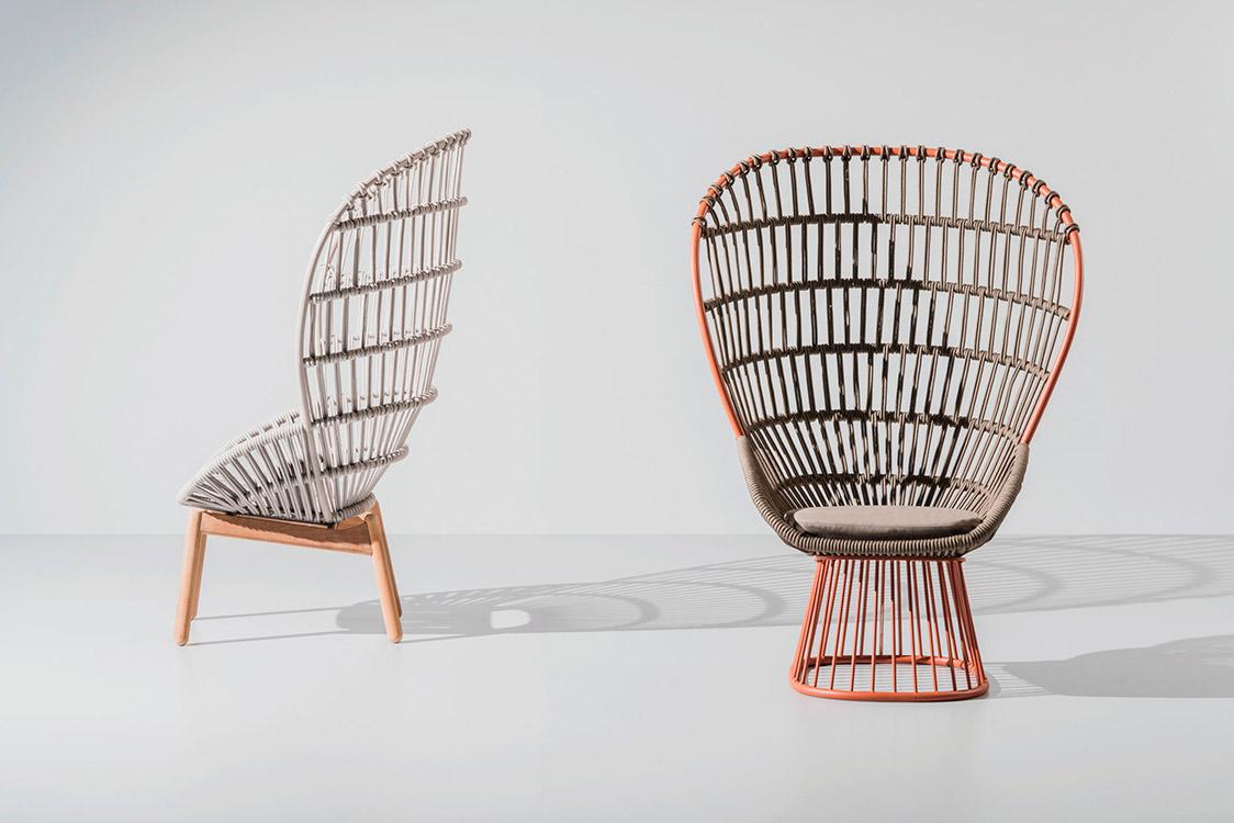 Silla Cala, un diseño del estudio de diseño Doshi Levien para marca española Kettal.