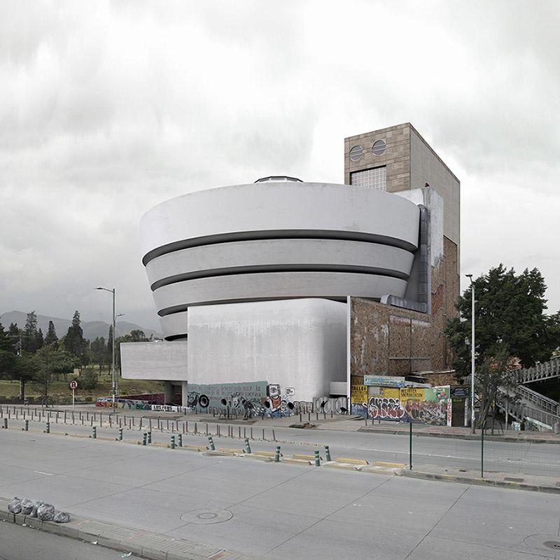 La Geometría De Las Ciudades - City portraits surreal architecture photos by victor enrich