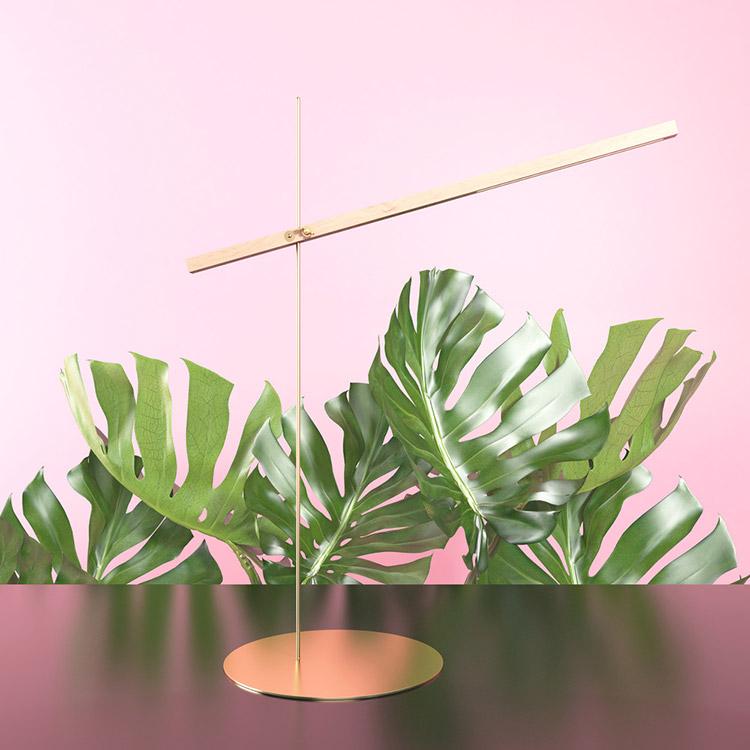 Lámpara de mesa Memorial diseño de Pedro Venzon.
