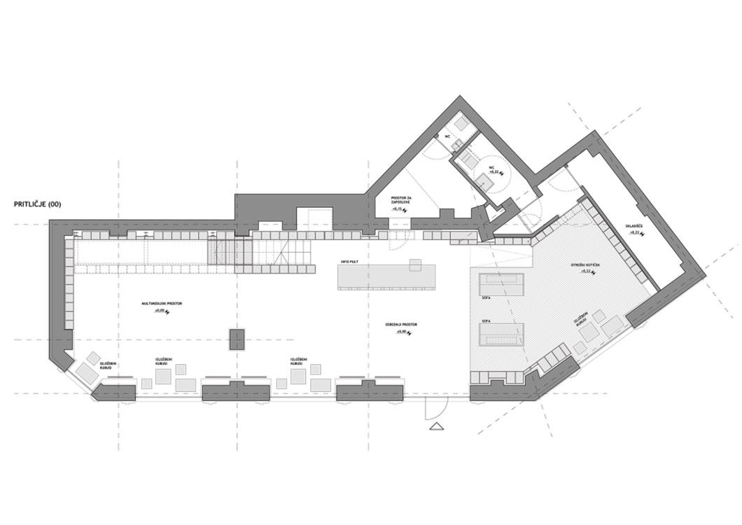 Libreria de Trieste en Italia, diseño de Sono Architects. Foto: Žiga Lovšin.
