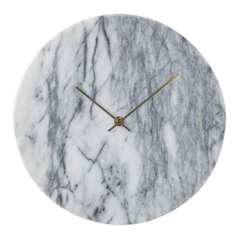 Reloj pared Desire Marble blanco de BoConcpet. Disponible en Tienda Axxis.