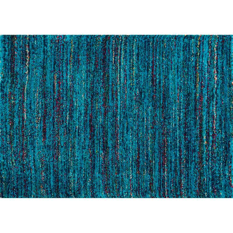 Tapete Sherpa tonos azules de LAV. Disponible en Tienda Axxis.