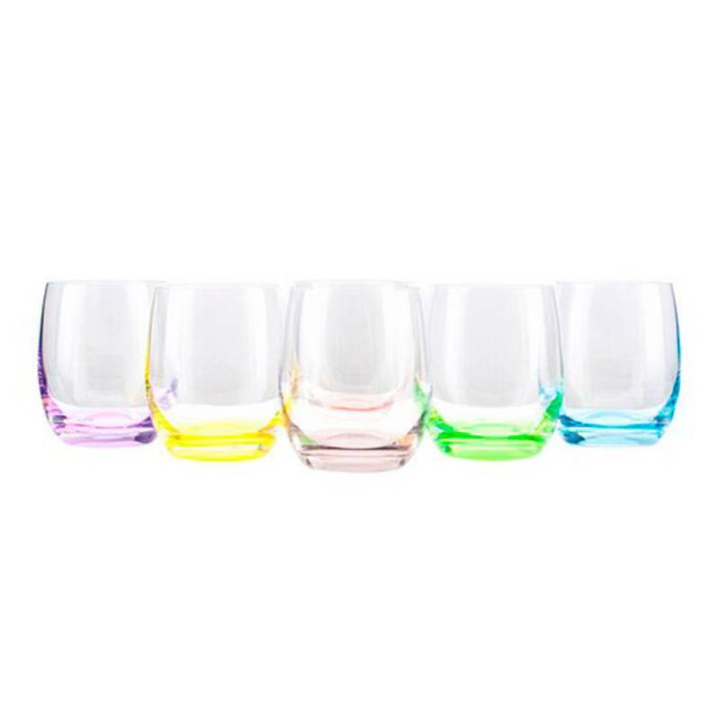 Vasos Rainbow de Bohemia. Disponible en Tienda Axxis.