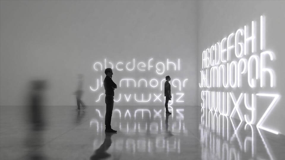 Alphabet of Light. Diseño de  BIG – Bjarke Ingels Group para Artemide.