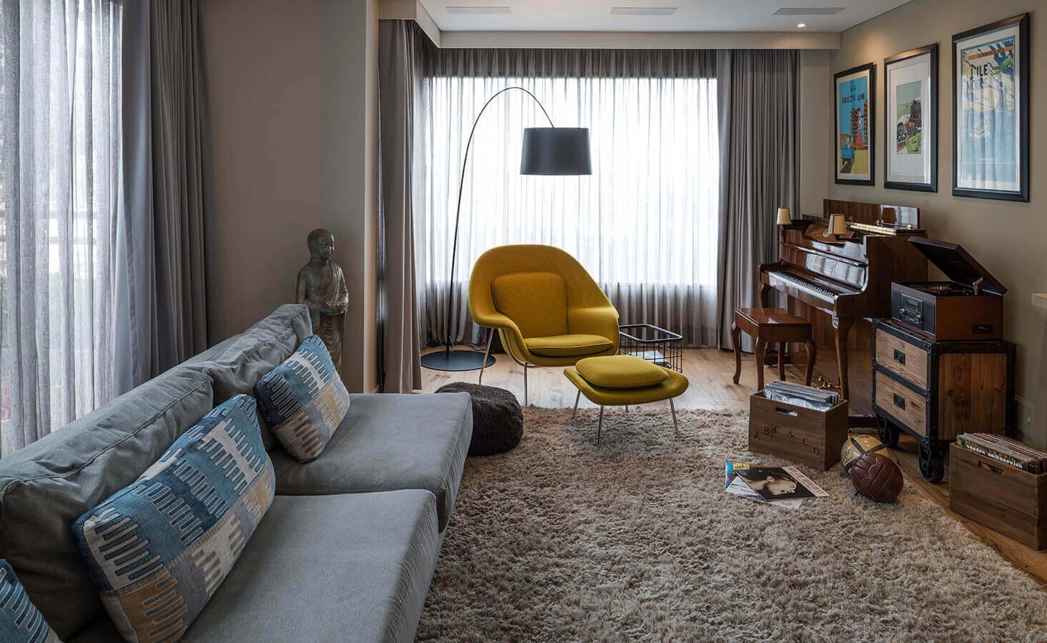 Para romper los paradigmas se contrastan en el mobiliario los colores y estilos.