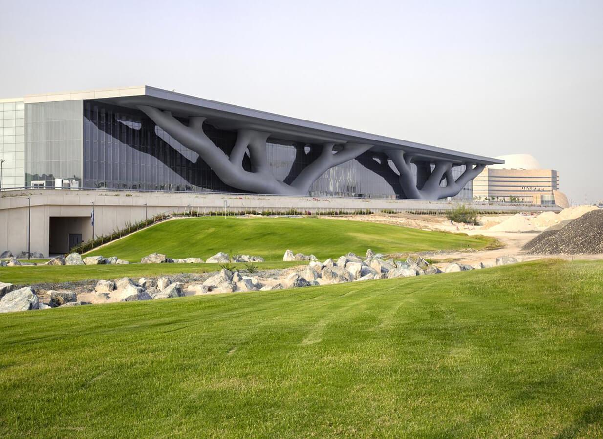 Centro de convenciones de Qatar. Foto: Hisao Suzuki