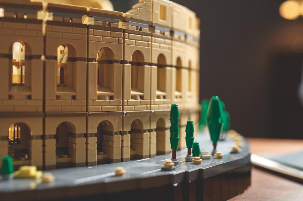 Lego del coliseo de roma